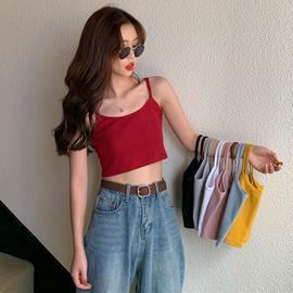 2020夏季新款韩版泫雅风同款上衣性感修身显瘦打底吊带背心女外穿