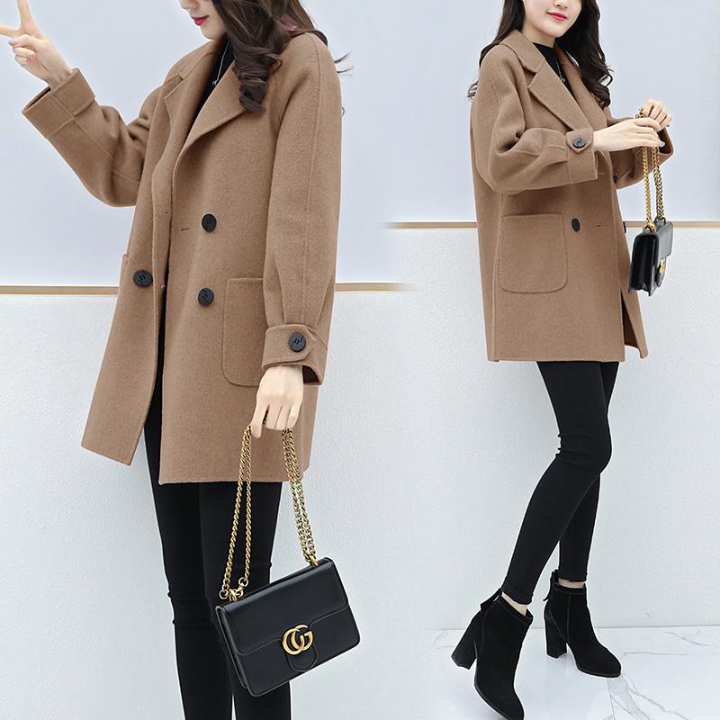 反季清仓大衣女中长款韩版2020秋冬季新款茧型呢子小个子毛呢外套