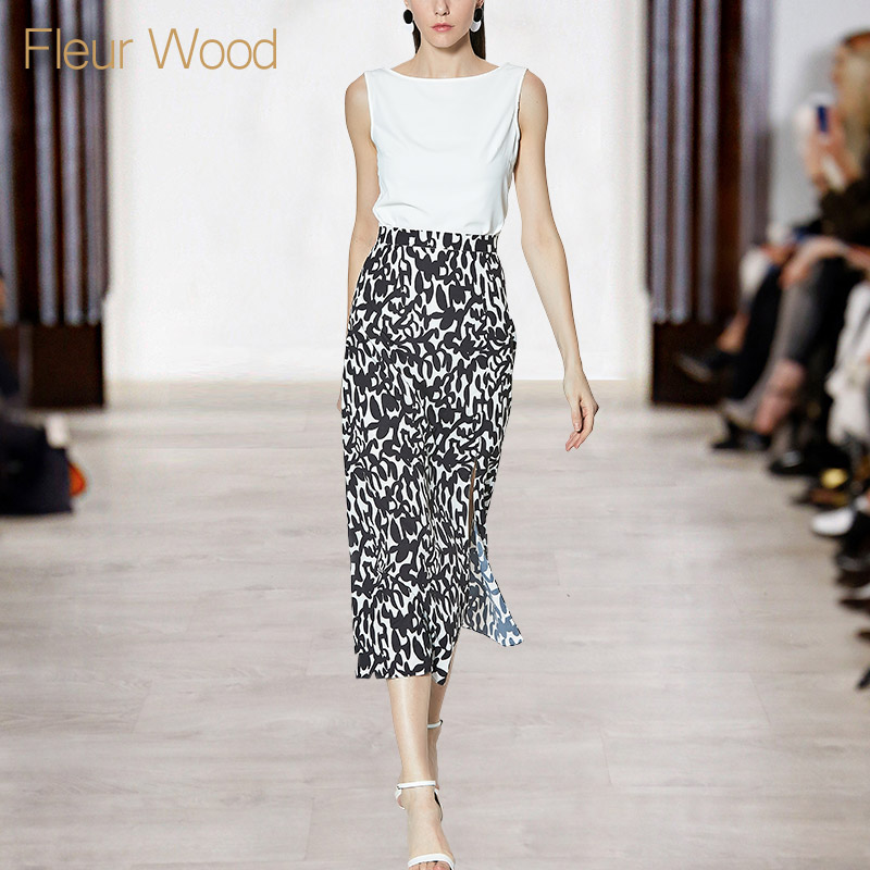 FLEUR WOOD夏季上衣配裙子女装气质显瘦套装女时尚两件套2018新款