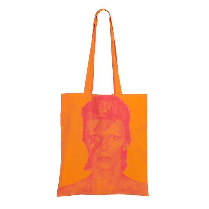 现货!英国代购V&A博物馆 VA原版周边帆布包袋 橙色David Bowie