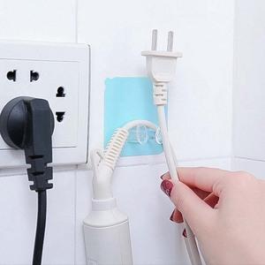 电线电器电源插头挂钩支架收纳厨房无痕挂放插头的挂钩创意粘钩