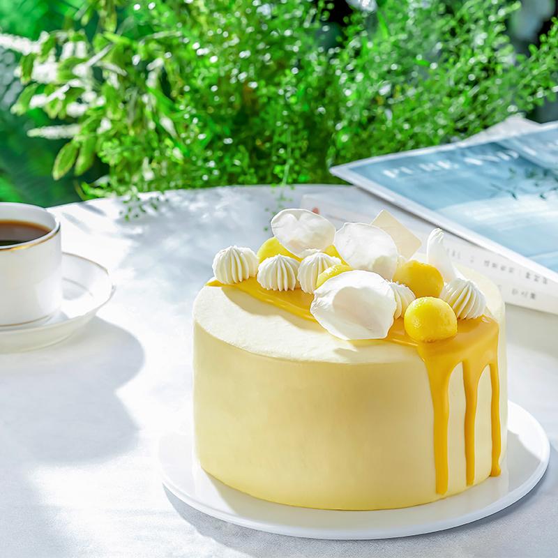 壹点壹客生日新鲜芒果奶油聚会蛋糕10-09新券