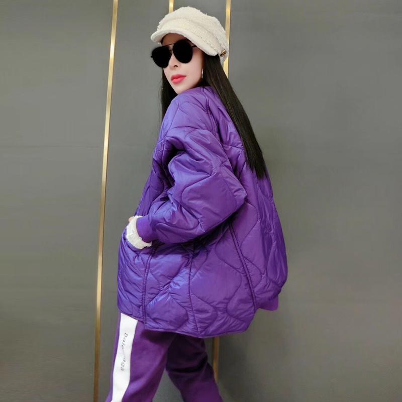 欧洲站冬装女装2020新款欧货潮A版棉袄宽松纯色羽绒棉服韩版棉衣