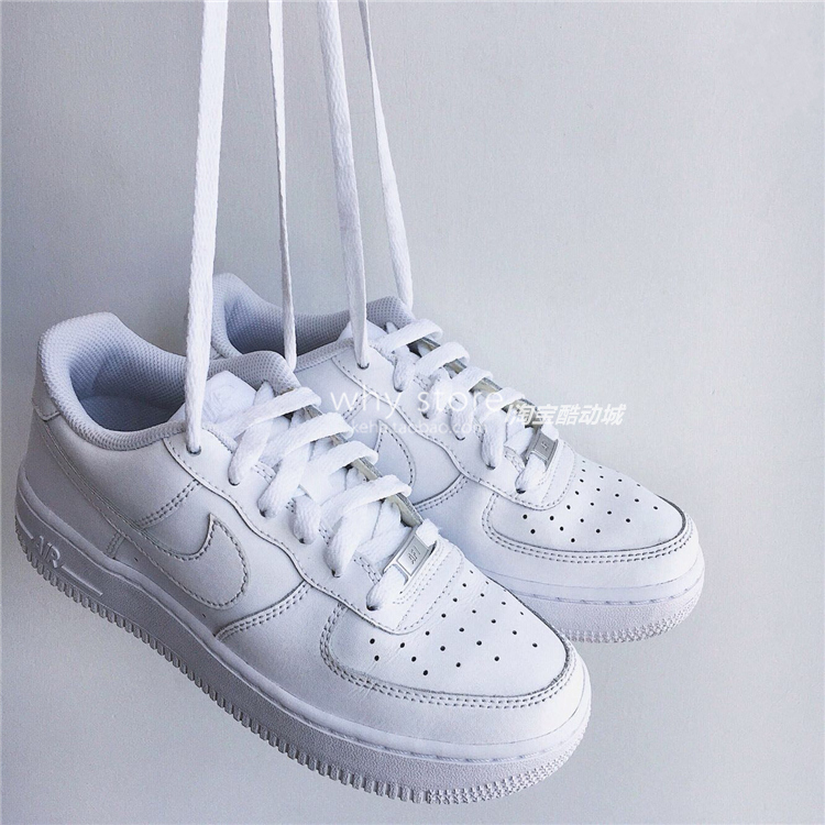 现货Nike Air Force 1 Low AF1纯白全白黑经典低帮男女板鞋315122