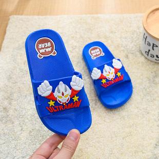 儿童拖鞋夏男童孩子宝宝卡通网红防滑软底洗澡凉拖鞋夏奥特曼凉拖