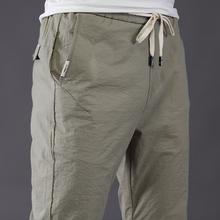 冰丝薄款夏天宽松紧直筒运动潮流长裤子男士休闲裤春夏季夏裤夏装