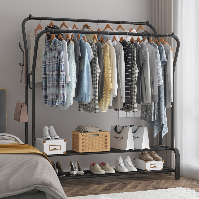 简易衣柜挂衣架宿舍出租房布艺衣服架家用铁架子卧室收纳现代简约