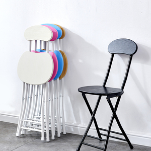 折叠椅子凳子靠背椅便携家用餐椅现代简约时尚创意圆凳椅子电脑椅
