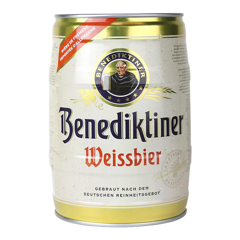 百帝王(Benediktiner)小麦白啤酒5L桶装 德国进口