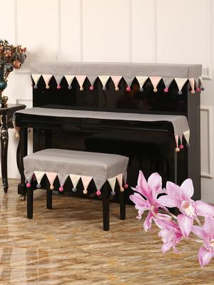 钢琴罩轻奢钢琴套防尘半罩韩国电钢琴布盖布现代简约儿童北欧全罩