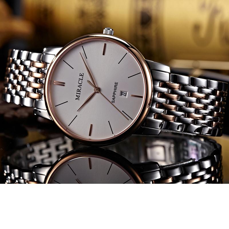 Gerni Men's Watch Ultra-thin Fashion Business Leisure Belt Quartz Watch Trend Waterproof Non-mechanical Simple Men's Watch