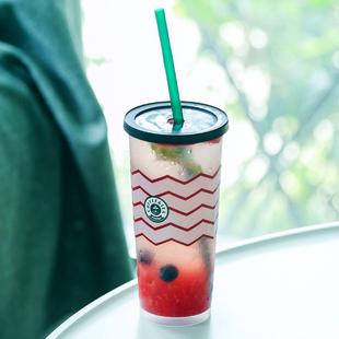 一次性玩味冰调高脚80口径注塑套杯水果奶茶网红咖啡冷萃定制logo