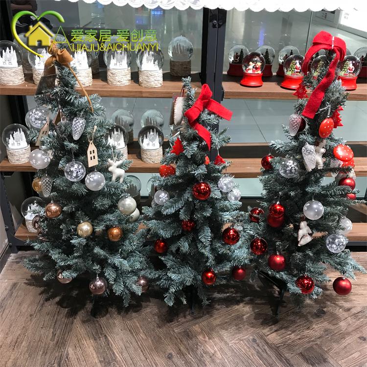 韩国modern house圣诞节装饰蝴蝶结挂饰金色银色雪松圣诞树 套装