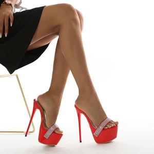 X-26202# 水钻性感简约高跟凉鞋有做35-42码 鞋子批发女鞋直播货源