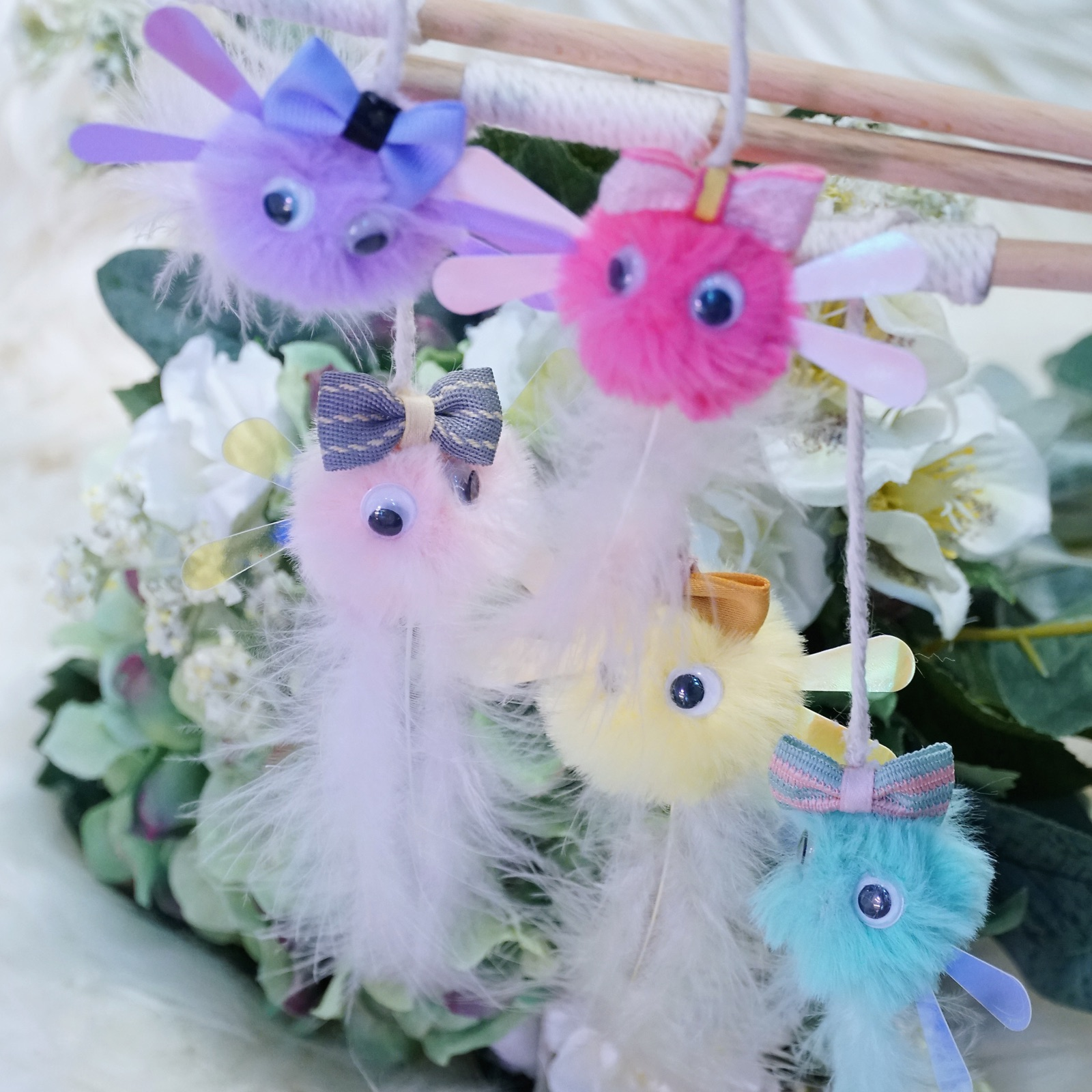 Meow baby cats side handcraft shop hair ball fairy tease cat stick to stimulate cats hunting nature