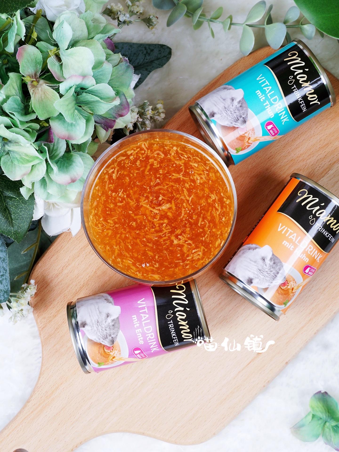 ドイツMiamor mami猫缶詰のスープは上質です。猫のおやつは猫の尿路感染を予防してくれます。