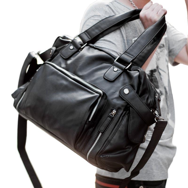 左森男包单肩包男士斜挎包时尚休闲韩版皮包手提包旅行包大容量潮图片