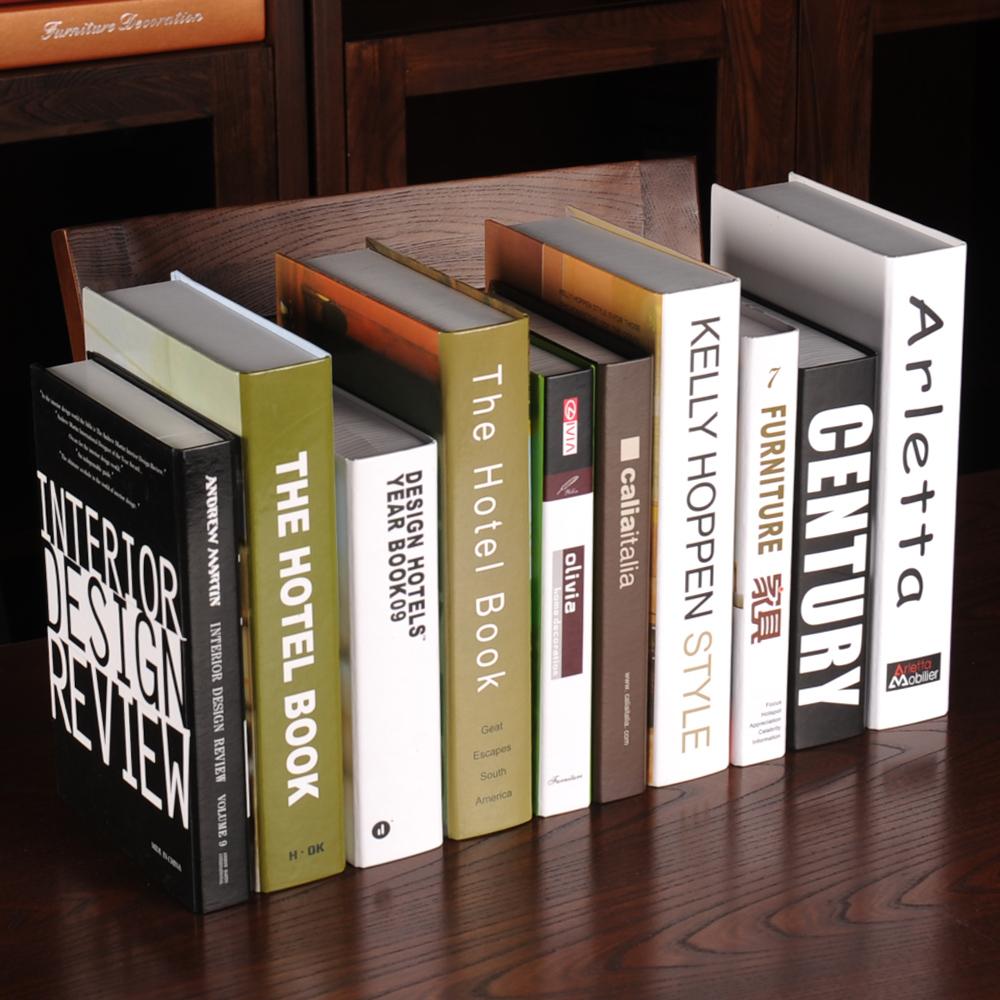 简约现代假书摆件仿真书装饰品北欧风格道具书装饰书创意书柜书盒