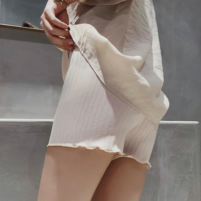 白色宽松安全裤夏防走光可外穿短裤