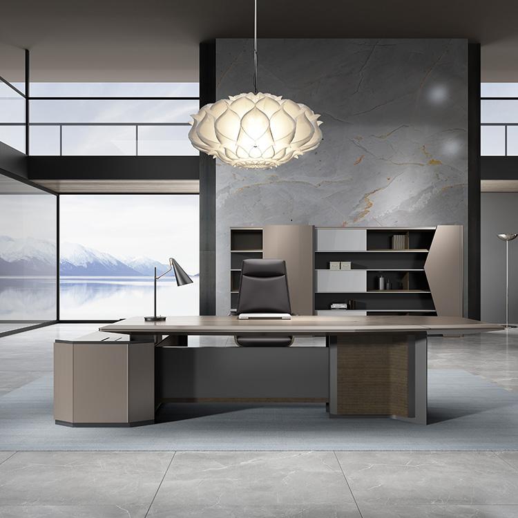 New office furniture boss desk president desk simple modern desk and chair combination light luxury large class desk manager supervisor desk