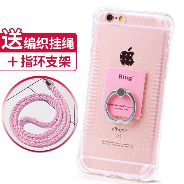 蘋果5s手機殼掛繩防摔氣囊保護套iPhone5s矽膠外殼SE簡約支架指環