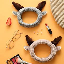 可爱小鹿洗脸化妆束发带小清新头饰女敷面膜洗漱发箍卡通发套头箍