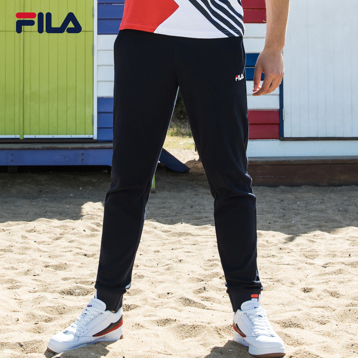 FILA斐乐男长裤2018夏季新款街头潮范复古时尚棉质运动长裤男