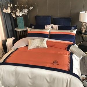 大牌轻奢床单四件套纯棉简约现代床上用品冰丝被罩全棉欧式床笠4