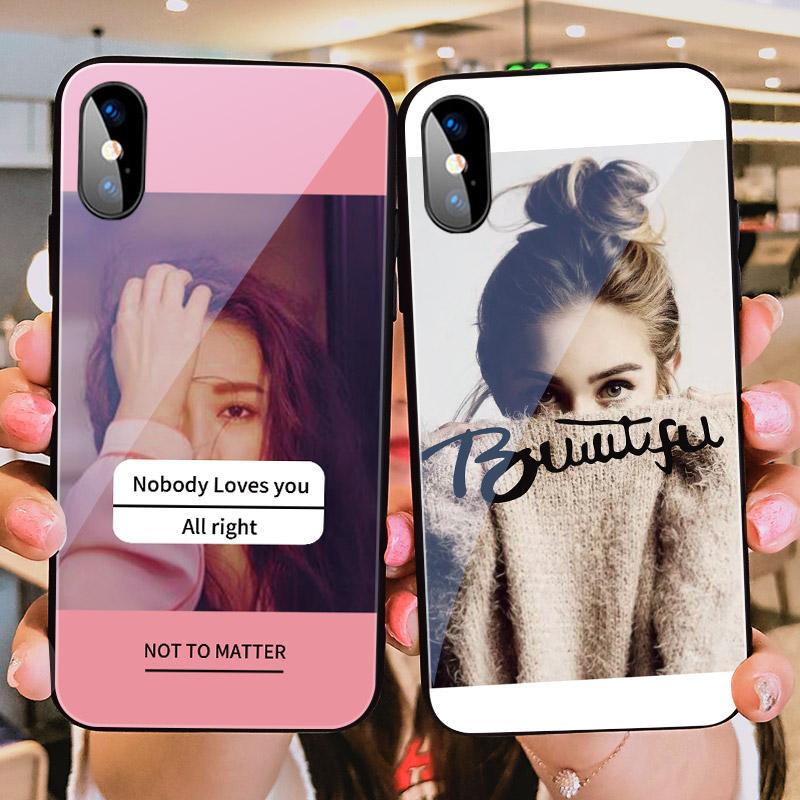 苹果xr手机壳ins个性女孩iphonex玻璃镜面8plus网红苹果11pro女款xsmax潮牌7时尚iphone11潮流6s欧美风xmax套