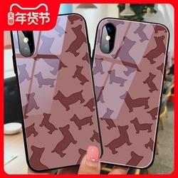 刘诗诗同款狗狗苹果11手机壳女xr苹果12新款mini潮iphonex玻璃promax个性创意小狗7网红6splus全包xsmax硅胶8