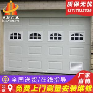 北京电动车库门定做家用升降防盗门