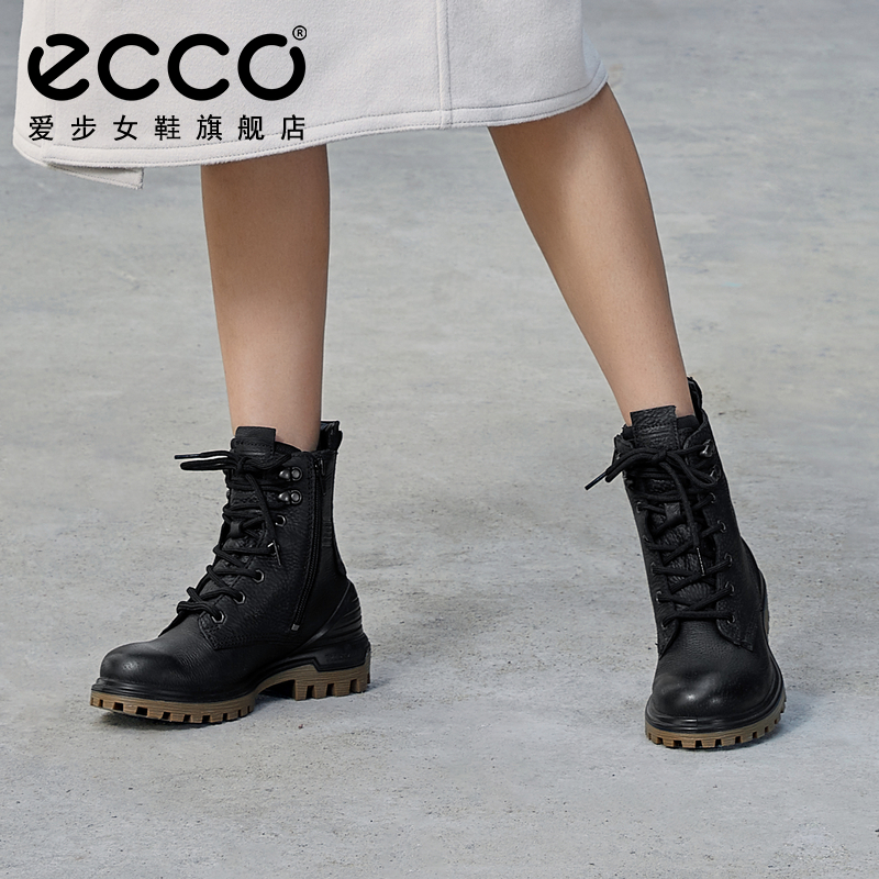 ECCO Women's Boots Flat Heel Boots Trifle Boots England Motorcycle Boots Chimney Boots Martin Boots Fun Chuang 460353