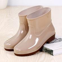 女低筒防滑男雨靴短筒加絨水鞋 中筒防水鞋 男女時尚 工作鞋 雨鞋