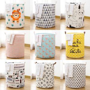 日式可折叠布艺脏衣篓浴室装脏衣服篮家用儿童特大号玩具桶收纳筐