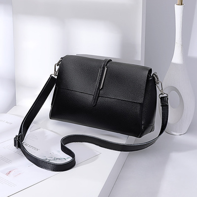 Leather bag women's messenger bag 2021 new fashion casual shoulder bag large capacity simple and versatile ladies small bag