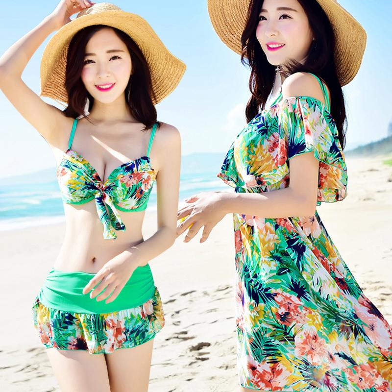 券后79.90元女三件套2019新款分体韩国风游泳衣