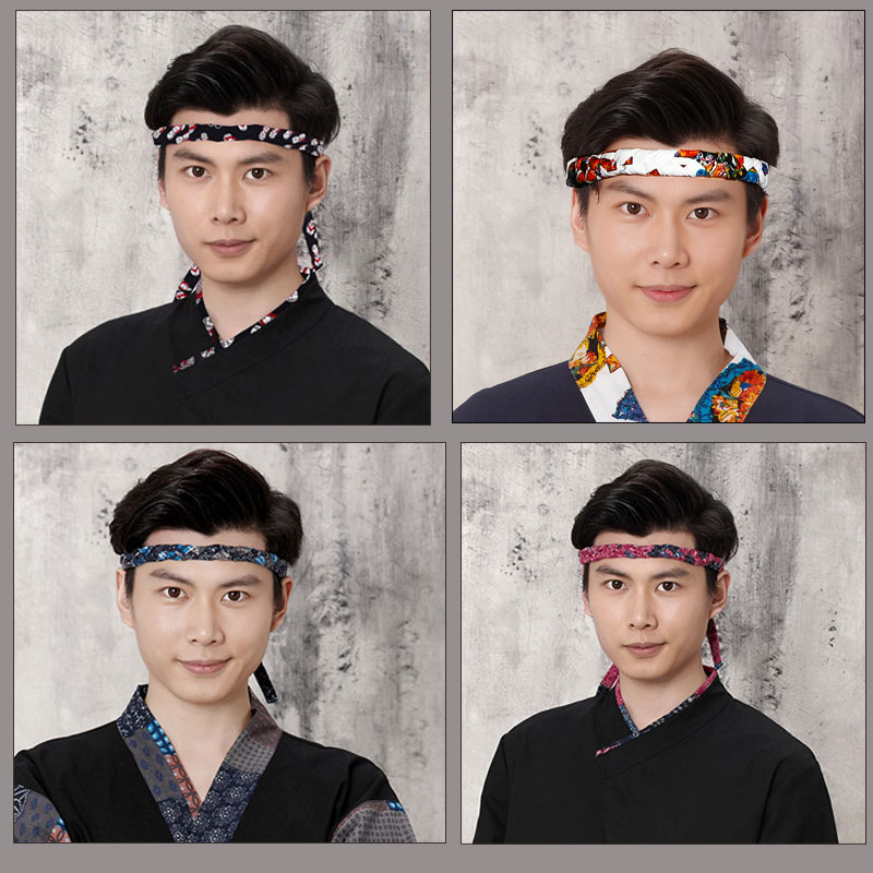 Исключительно вручную ткать льняная ткань материал японский материал причина магазин суши магазин голова шеф-повар служба член синий и красный голова