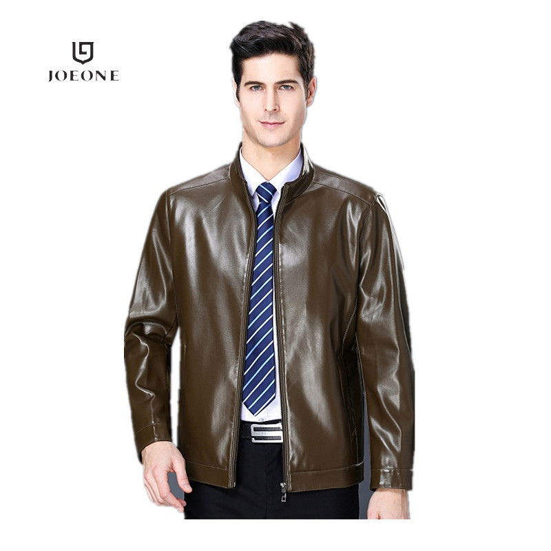Jiumuwang mens leather jacket mens autumn and winter new business leisure middle-aged sheeps leather jacket