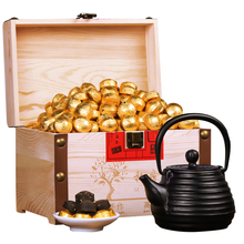 Yunnan Mini Mini Tuo tea, glutinous rice fragrant tea cake, Puer tea, small Tuo tea, ripe tea, tea, wooden gift box, 750g