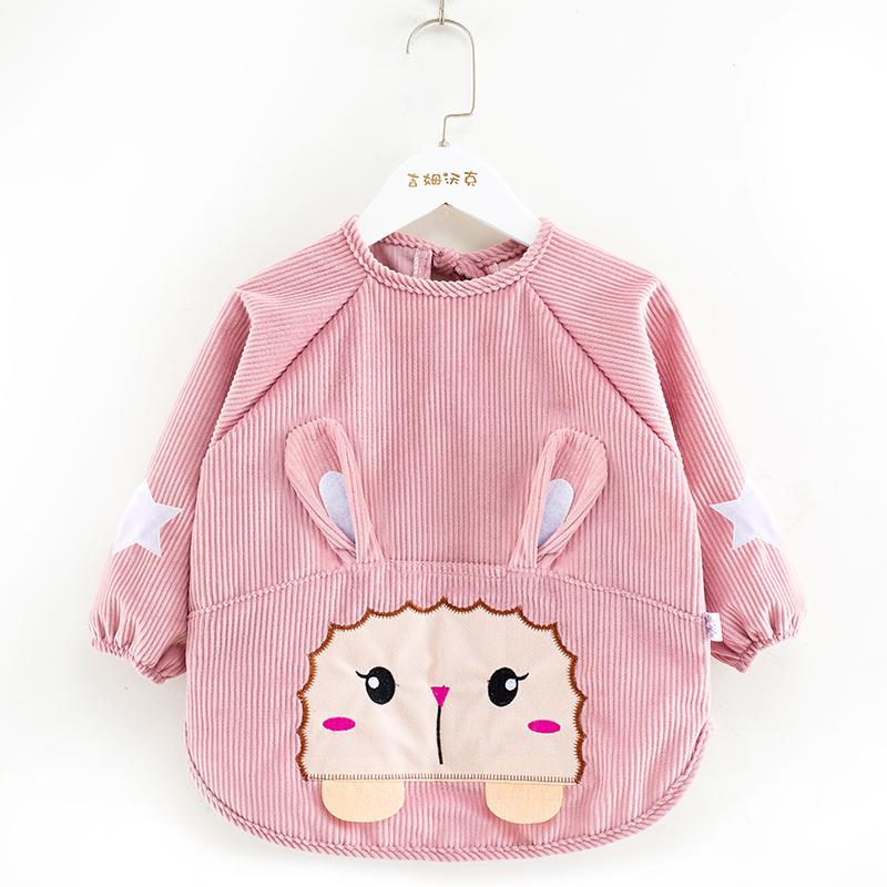 宝宝罩衣防水防脏儿童秋冬季男女童反穿衣围兜吃饭衣外穿婴儿围裙