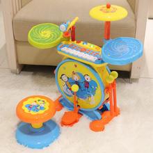宝丽儿童鼓架子鼓儿童初学者入门1岁敲打乐器宝宝爵士鼓玩具男孩3