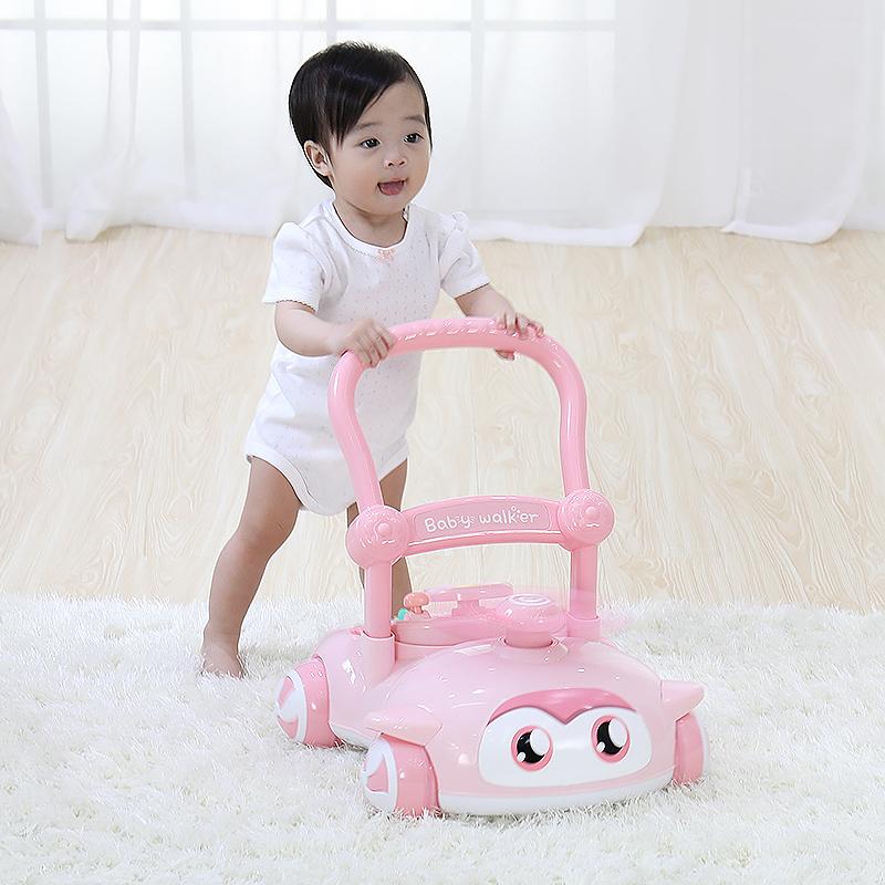 宝丽宝宝学步车手推车多功能婴儿学走路助步车防侧翻儿童手推玩具