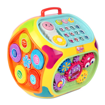 Polaroid childrens toy hand clap drum baby puzzle 6-12 months girl Hexahedron baby 0-2 year old Pat Drum