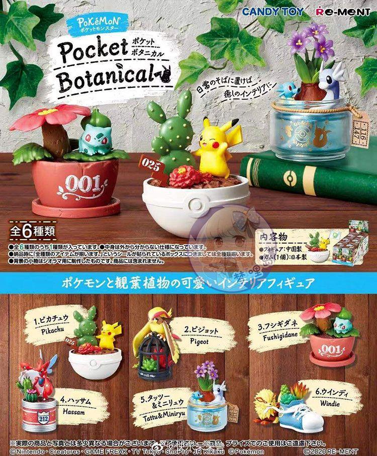 现货 日本Re-ment食玩神奇宝贝精灵宝可梦口袋植物园绿植仿真摆件