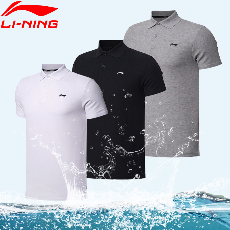 Li Ning POLO shirt men's 2021 summer new lapel T-shirt sports breathable short-sleeved pure cotton casual half-sleeved t