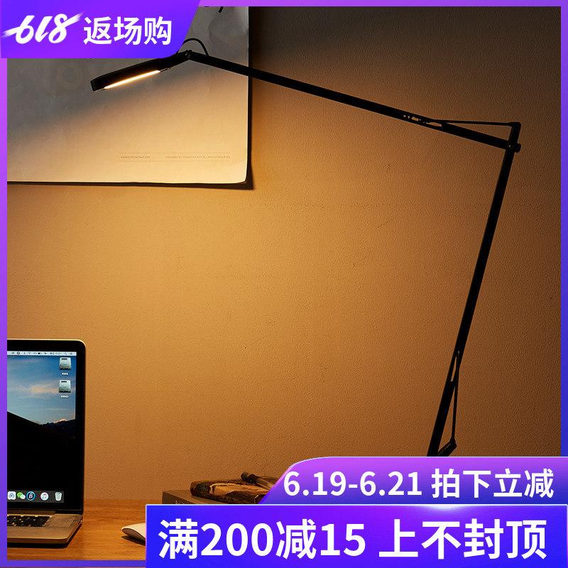 办公室工作商务台灯现代简约卧室床头灯触摸调光LED护眼书房台灯