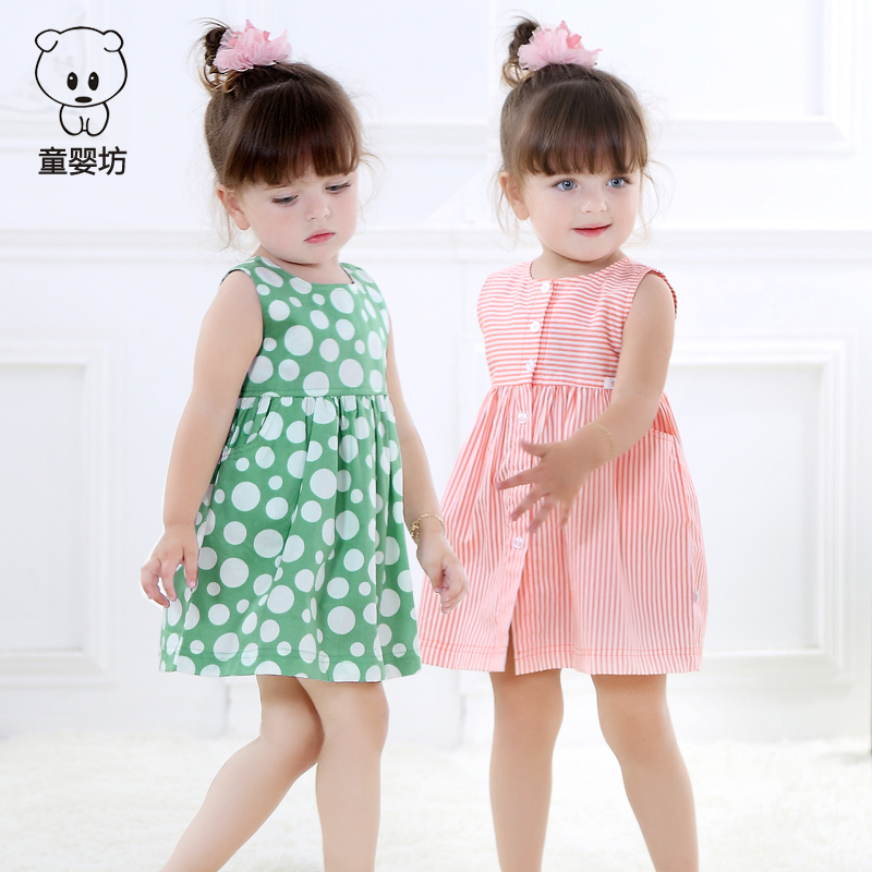 2019 mới cho trẻ em nước ngoài mùa hè nữ bé váy công chúa bé quần áo bé gái váy bé gái váy lụa - Váy