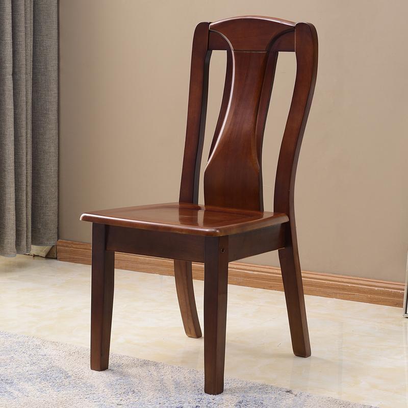 实木餐椅家用橡木简约现代成人餐桌椅靠背椅中式休闲椅子组装餐厅