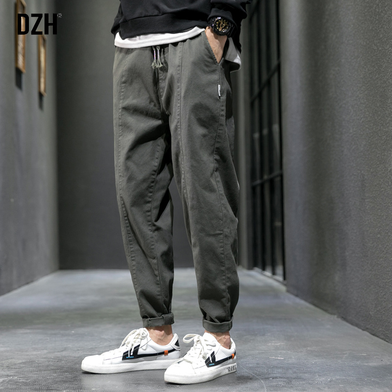 Men's trousers casual pants men's summer loose straight pants men's pants spring and autumn tooling pants tide Korean version of the trend wild