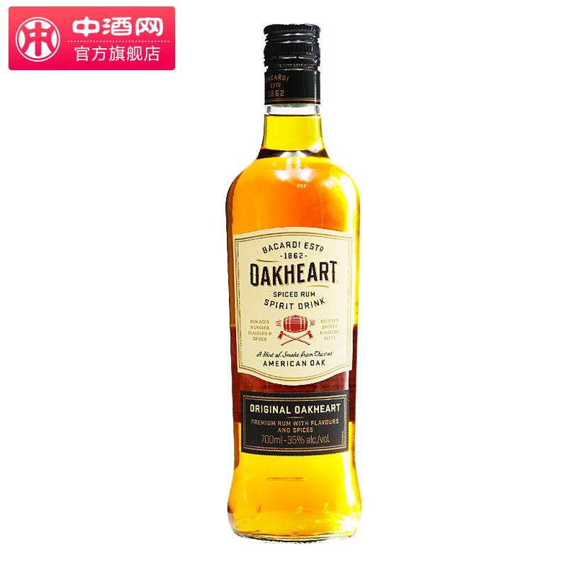中酒�W Bacardi/百加得至尊橡木心辛香朗姆配制酒700ml �M口洋酒